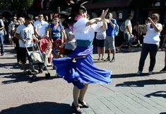 Esmeralda dances in Fantasyland, at Disneyland Paris.