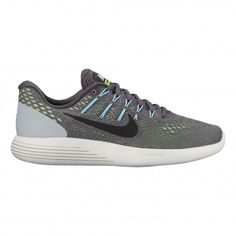 #Nike Lunarglide 8 843726 #hardloopschoenen dames dark grey ghost green