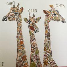 Giraffes Millie Marotta Animal Kingdom Coloured In Primsacolour