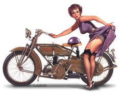photos of vintage motorcycles | Pin Up Girls On Indian & Harley Motorcycle Classics