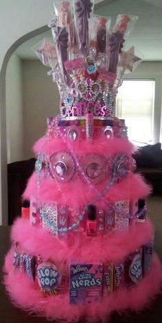 So doing this for Danica and DJ (prince) Candy Birthday Cakes, Candy Cakes, Diy Birthday, Birthday Parties, Birthday Gifts, Candy Arrangements, Candy Centerpieces, Wedding Centerpieces, Candy Gift Baskets