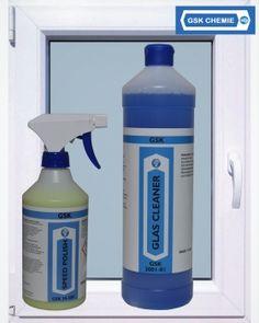 Window- Cleaner Set-Teflon-PTFE-Keramik-Silikon-Öl-Motoröl-Fett-Lebensmittelzertifiziert-H1-NSF-Trennmittel-GSK Chemie, Klebstoffe, 1-K Klebstoffe, 2-K Klebstoffe, Anaerobe Klebstoffe, CA-Klebstoffe, Aerosole, Reinigungsmittel, Dichtstoffe, Pasten, Zubehör, NSF H1 Produckte, Sets, Window Cleaner, Fett, Spray Bottle, Cleaning Supplies, Windows, Adhesive, Chemistry, Cleaning, Glass