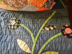 I pinned this so you can see the big stitch look and how it can add a beautiful touch to your quilts.