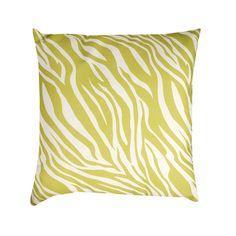 19-inch Green/ White Zebra Print Throw Pillow | Overstock.com Shopping - Great Deals on Throw Pillows