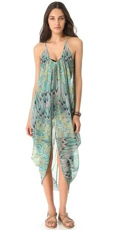 Mara Hoffman coverup (love the feather print)