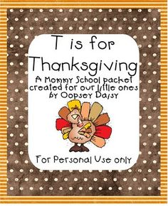 Printables: T is for Thanksgiving Packet