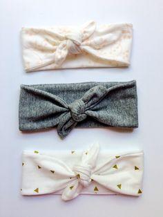 Girls Knot Tie Headband by CozyCreaturesCo on Etsy