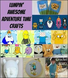Lumpin' Awesome Adventure Time Crafts - there's a free valentine printable set!