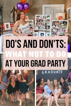 I actually definitely agree with these graduation party ideas about what not to do for your college and high school graduation party