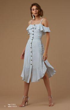 Guia completo do Vestido Midi! Simple Dresses, Cute Dresses, Casual Dresses, Short Dresses, Fashion Dresses, Short Outfits, Chic Outfits, Summer Outfits, Summer Dresses