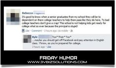 Friday Humor Funniest Facebook Comments