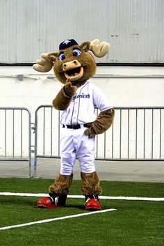 Tacoma Rainier's mascot Rhubarb came to Let's Play at the Tacoma Dome!