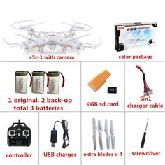 Syma X5C-1 RC Quadcopter Drone With Camera syma X5C dron rc helicopter drones with camera hd VS MJX X101 professional drones