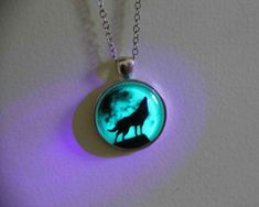 sale: moon wolf necklace glow in the dark after UV absorption necklace noctilucent necklace friendship love gifts unique lovers gifts: Wolf Jewelry, Cute Jewelry, Jewelry Gifts, Jewelry Accessories, Unique Jewelry, Cheap Jewelry, Handmade Jewelry, Personalised Jewellery, Affordable Jewelry