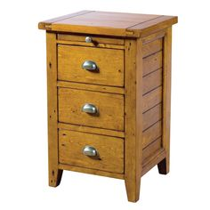 Decorating Reclaimed Pine Nightstand With Drawers