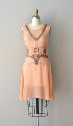 vintage 1920s Danse Douce silk beaded dress     #flapper #1920s #vintagedress