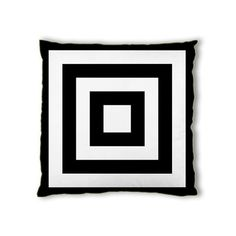 Black and White Square Box Cushion Cover by HaeizShop on Etsy