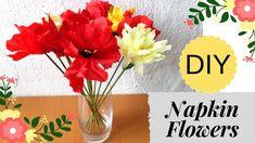 DIY Napkin Flowers | How to Make Flowers out of Kitchen Napkins | Napkin...