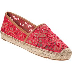 4e7b0eb08e46 TORY BURCH Lucia Flat Espadrille Natural Leather ( 99) ❤ liked on Polyvore  featuring shoes