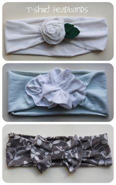 T-shirt Headbands - http://michelleandtucker.blogspot.com