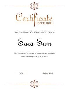 9 printable honor roll certificate templates free word pdf docu principals honor roll printable certificates see more free certificate template by hloom yelopaper Gallery