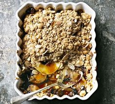 Baked apple & toffee crumble