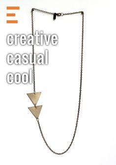 Asymmetrical Arrow Necklace