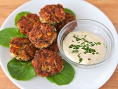 Israeli-Style Fish Cakes - Seasoned fishcakes, known in Israel as ktzitzot dagim. Fried fish patties with pine nuts, breadcrumbs, & seasonings served with tahini sauce. Fish Dishes, Seafood Dishes, Fish And Seafood, Seafood Recipes, Main Dishes, Sauce Recipes, Kosher Recipes, Cooking Recipes, Easy Cooking