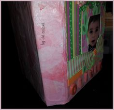 Álbum Olivia By Dri Saiani © Textura feita com filtro de café tingido