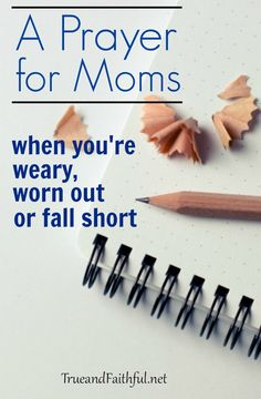 Oh boy have I been there! Here's what you need to know on the days you're weary, worn out or fall short as a mom.