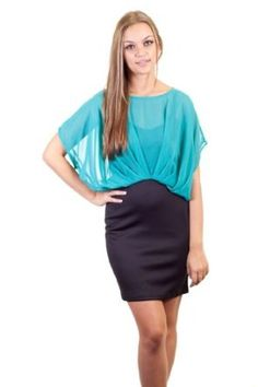 Read More About Toska Color Block Chiffon Top Overlay Fitted Skirt Back Zipper Body Con Form Fitting Short Dress Aqua Turquoise …, http://style-smilez.tumblr.com/post/43329723829/toska-color-block-chiffon-top-overlay-fitted-skirt-back , Pinned by http://pinterest.com/pinterestfella