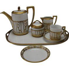 Art Deco Rosenthal Brass Ormolu Decorated Espresso Tea Set http://www.rubylane.com/item/518922-417sk-313/Art-Deco-Rosenthal-Brass-Ormolu-Decorated with <3 from JDzigner www.jdzigner.com