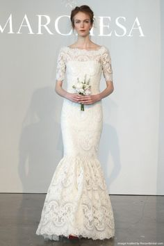 Marchesa 'Fully Embroidered' size 4 used wedding dress - Nearly Newlywed