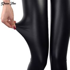 911474b20b8e7 Universe of goods - Buy New Autumn 2018 Fashion Faux Leather Sexy Thin  Black Leggings Calzas Mujer Leggins Leggings Stretchy Plus Size for only  USD.