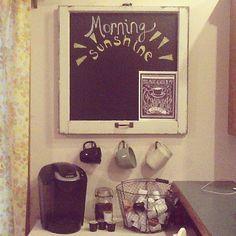 coffee nook. Love this idea!