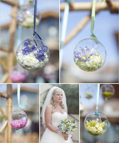 glass balls for the ceremony arch