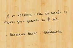 """""""E su nessuna cosa al mondo so tanto poco quanto su di me."""" Hermann Hesse - Siddharta #libri #citazioni #citazionilibri #lovebooks #books #siddharta #hesse #hermannhesse #io #l'io #me"""