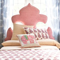 John Robshaw Textiles - Kerala - Headboard.  What a great little girls bed. Or my bed.