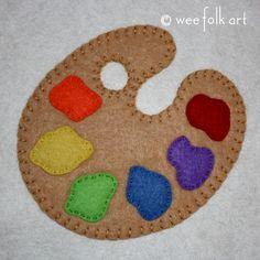 Painter's Palette Applique Block | Wee Folk Art
