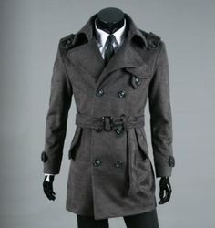 Double breasted men's trench coat is fierce