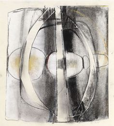 Paul Feiler Untitled, 1965 Charcoal, coloured chalks and collage. Signed and dated in pencil lower right 30.5 x 28.5 cm