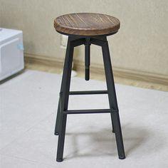Gdy krzesła drewniane spersonalizowane retro stołki barowe żelaza obracając wyciąg stołek barowy stołek barowy jest nadal czerwony diament oferty(China (Mainland))