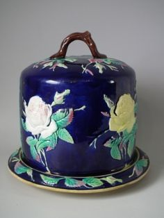 Victorian  Majolica Cheese Dome
