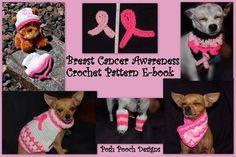 Crochet Patterns For Cancer | ... Crochet Pattern E-Book- Dog Breast Cancer Awareness 7 Crochet Patterns