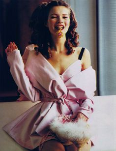 Think #Pink. Kate Moss in Vogue italia 1992, by Ellen von Unwerth