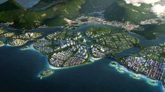 BiodiverCity is a masterplan by BIG that will see three islands built off the shore of Penang Island, Malaysia, connected by an autonomous transport network. George Town, Win Competitions, Design Competitions, Masterplan, Penang Island, Eco City, Mangrove Forest, Sustainable City, Local Architects