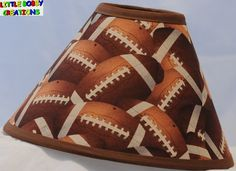 Football lamp shades light ideas light ideas football themed light switchplate oversized by txmulberrypie football footballs fabric lamp shade 10 sizes to choose mozeypictures Images