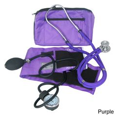 This Dixie Ems Sprague kit features a blood pressure unit, a stethoscope with tubing and an accessory pouch that contains two diaphragms, two pairs of ear tips and three bells. The kit comes in a sturdy, color-matching nylon zippered case.