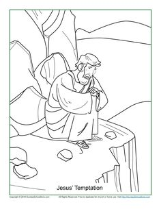Jesus' Temptation Coloring Page