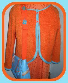 Une veste discrète pas si  Dans un très beau orange